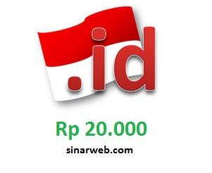 Promo domain .id Rp 20 ribu